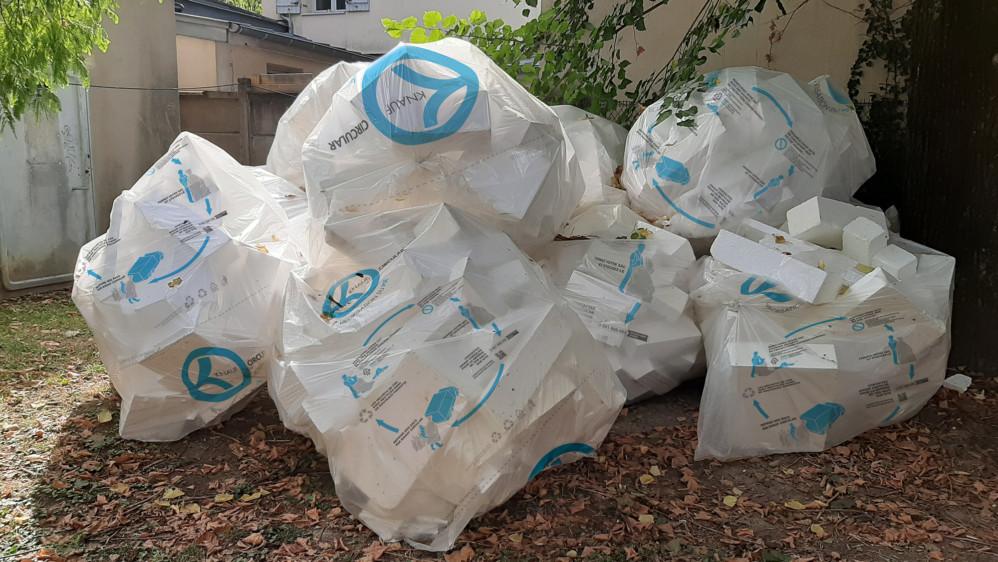 Recyclage de chutes de PSE propre sur chantier - Knauf Circular